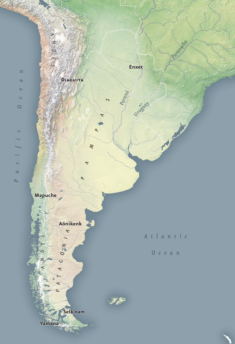 Patagonia Infinity Of Nations Art And History In The - South america map gran chaco