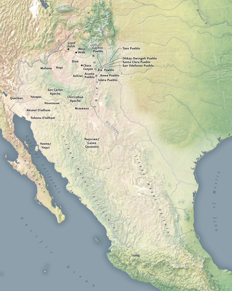 Southwest Infinity Of Nations Art And History In The - Southwestern usa map