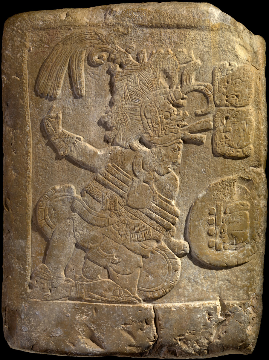 Maya Bas Relief Depicting A Ball Player Infinity Of