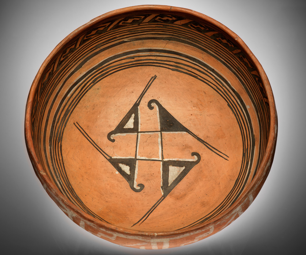 Ancestral hopi bowl infinity of nations art and history in the ancestral hopi bowl ad 1300s homolovi navajo county arizona clay paint 16 x 31 cm purchase buycottarizona Gallery