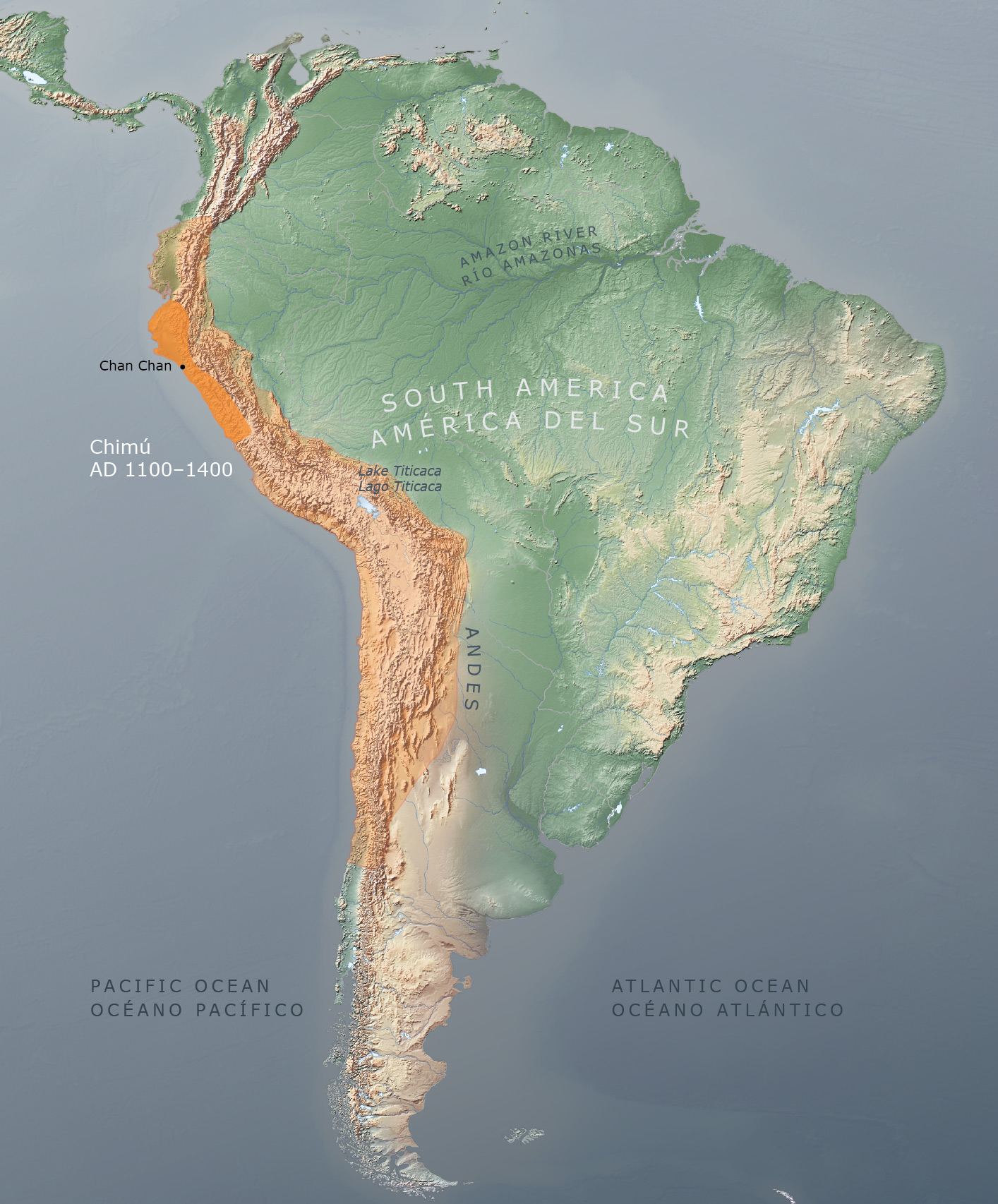 Chan Chan Peru Map.The Great Inka Road Engineering An Empire