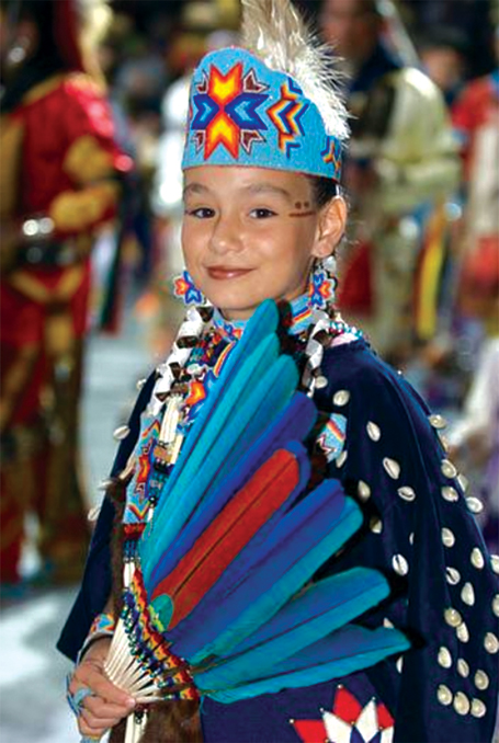 Young powwow dancer image