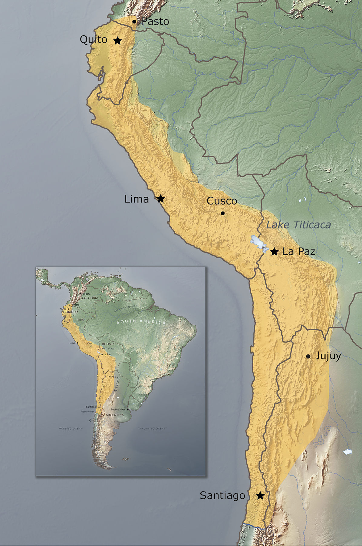 Image of: Geography The Inka Empire