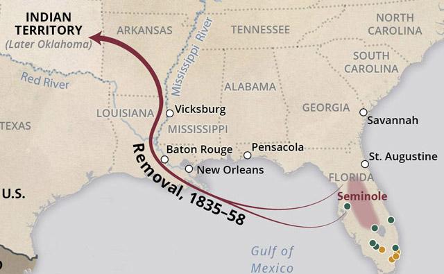 Seminole Florida Map.Removal Of The Seminole Nation Interactive Case Study