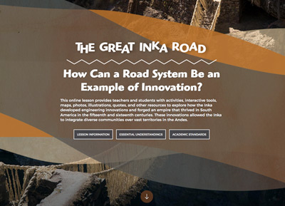 The Great Inka Road: How Can a Road System Be an Example of Innovation? image
