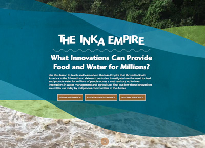 The Inka Empire: what innovations can provide food and water for millions image