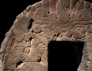 Tepanec Quetzalcoatl (feathered serpent) and Tlaltecuhtli, goddess of the earth image