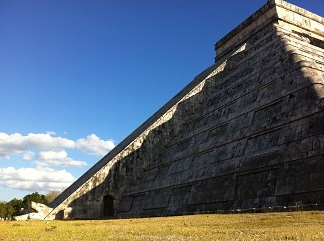 The descent of Ku'kulkan, the feathered serpent, on Chichen Itza's famous pyramid
