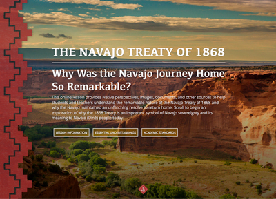 The Navajo Treaty of 1868 digital lesson image