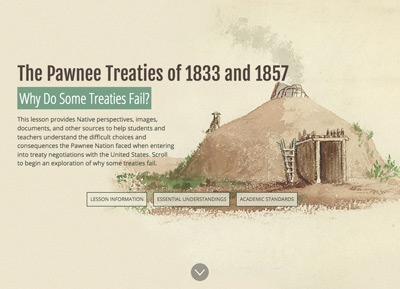The Pawnee Treaties of 1833 and 1857 digital lesson image