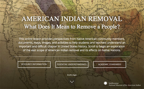 American Indian Removal | Resource Overview