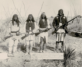 Geronimo, Son and Two Picked Braves