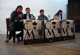 Panel on indigenous media at the Morelia Film Festival