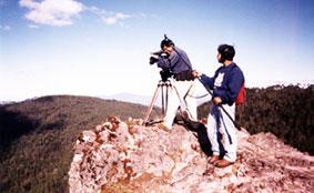 Ojo de Agua team shooting on location