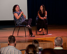 Filmmaker Shelley Niro and moderator Yvonne Russo