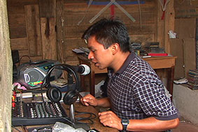 Mariano of Radio Chanu Pom broadcasting