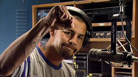 DJ Derrik Janis of the Lakota radio station KILI