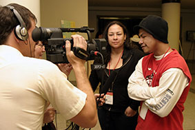 Tracy Rector and Nick Clark interviewed at the 2006 Native American Film + Video Festival