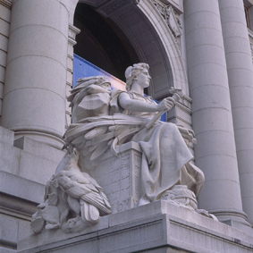 Allegorical statue of the continent of America