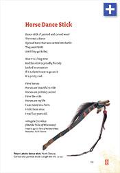 Horse Dance Stick, a poem