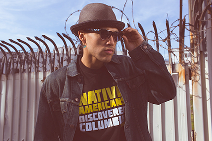 Native Fashion Now - Native Americans Discovered Columbus T-shirt