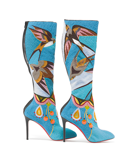 Native Fashion Now - Glass beads on Christian Louboutin boots