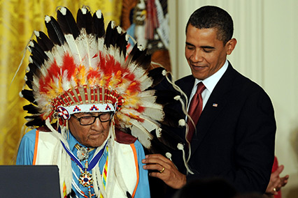 Patriot Nations: Native Americans in Our Nation's Armed Forces - President Obama awards Joseph Medicine Crow