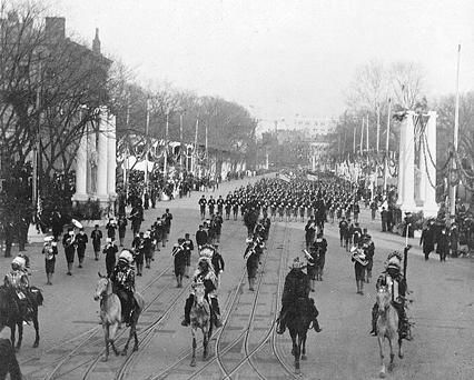 Passing in review before a newly inaugurated President Theodore Roosevelt