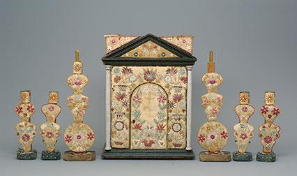 Odawa tabernacle and candlesticks