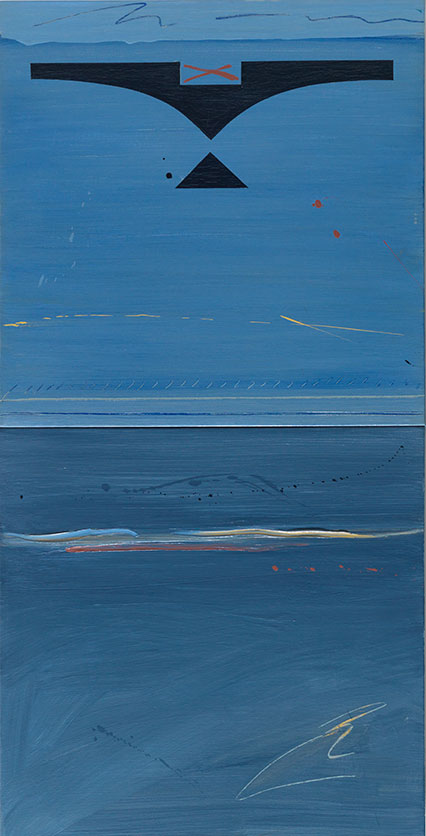 Parfleche for Norval Morrisseau by Robert Houle