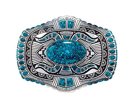 Belt buckle by Lee A. Yazzie