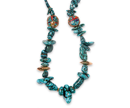 Nugget necklace by Raymond C. Yazzie