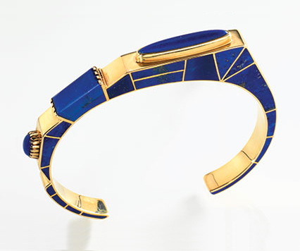 Lapis bracelet by Lee A. Yazzie