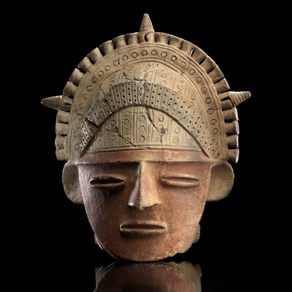 Muisca clay head