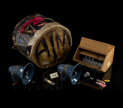 AIM drum, amplifier, and accessories