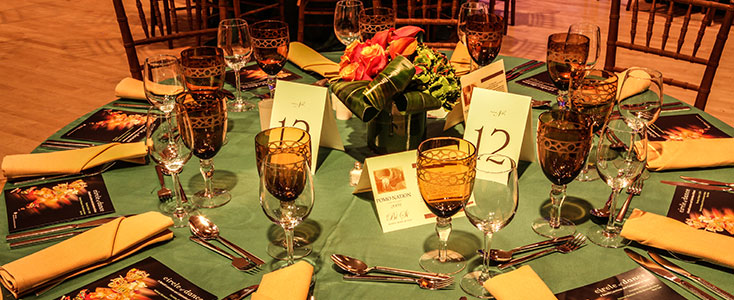 Table setting at event in New York