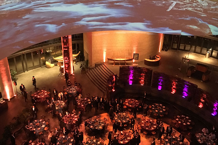 View of event in the Potomac Atrium from above