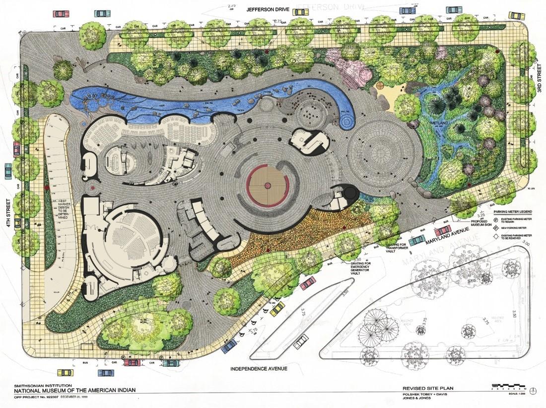 landscape diagram of memorial site