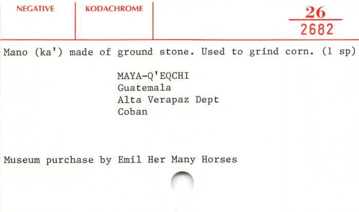 Mano/Grinding stone
