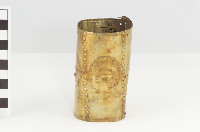 Armband with design of seated human figures
