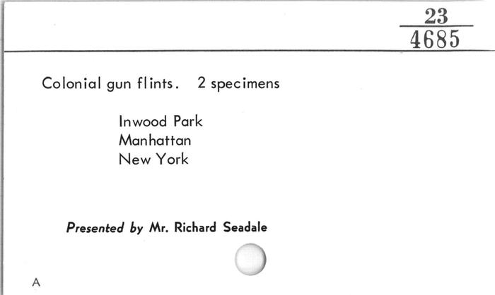 Gun flint